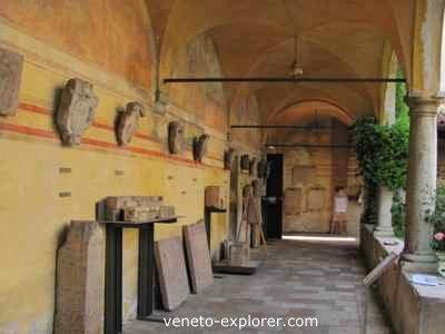 medieval cloister veneto italy