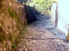 Marostica, Veneto, Italy. Trail to the middle ages castle