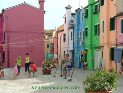 islands of Venice Italy, Burano