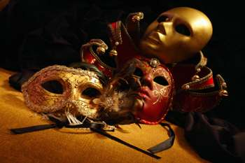 venetian masquerade masks like in Stanley Kubrick Eyes Wild Shut