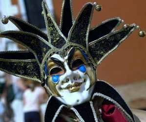 Venetian Masquerade Masks. The Jolly