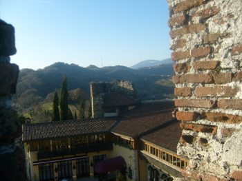 Middle ages castles of Italy. Panorama from the Marostica upper castle