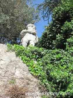 Villas Nani Mocenigo dwarfs, Veneto Italy