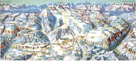 Nordic skiing and Hiking in Italy. Asiago Plateau