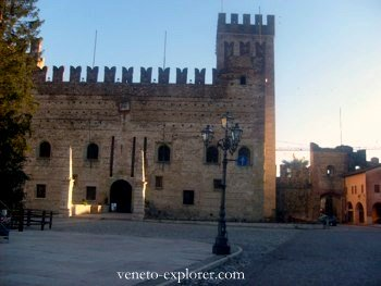 Middle ages castles of Veneto.Marostica, Italy